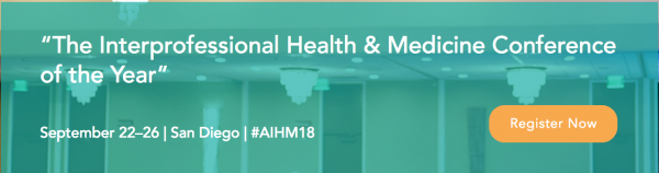 AIHM 2018 conference in San Diego, CA September 22-25